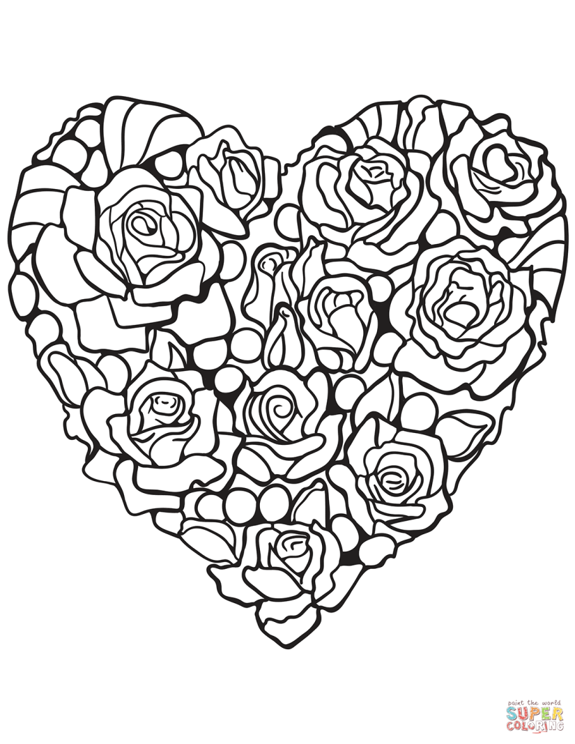 heart-made-of-rose-coloring-page